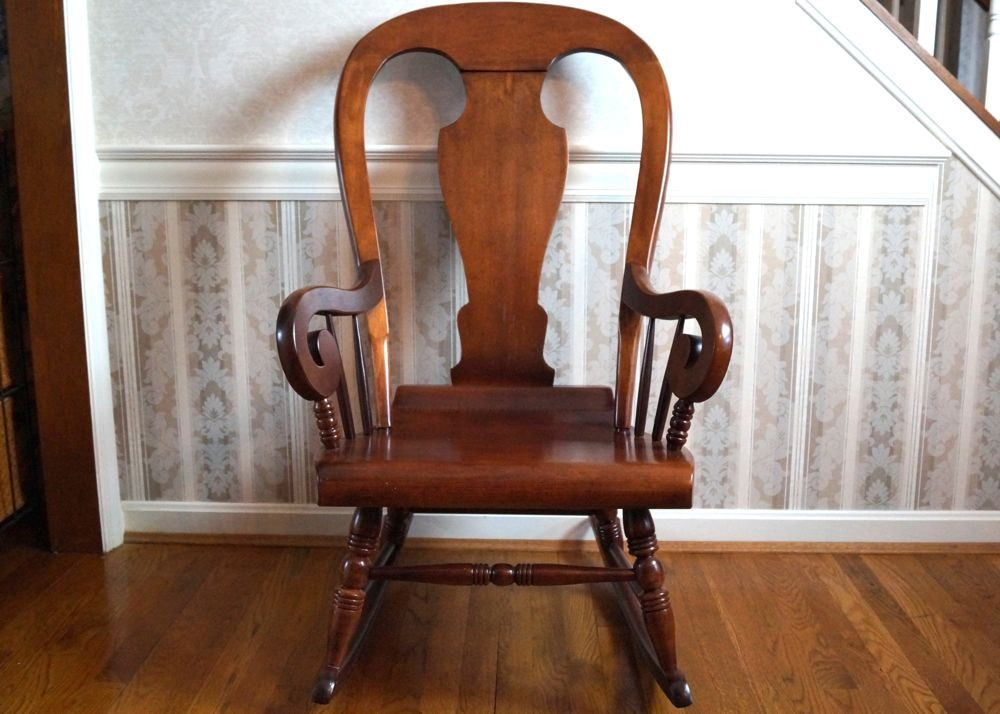 Vintage Tell City Solid Wood Rocking Chair ...