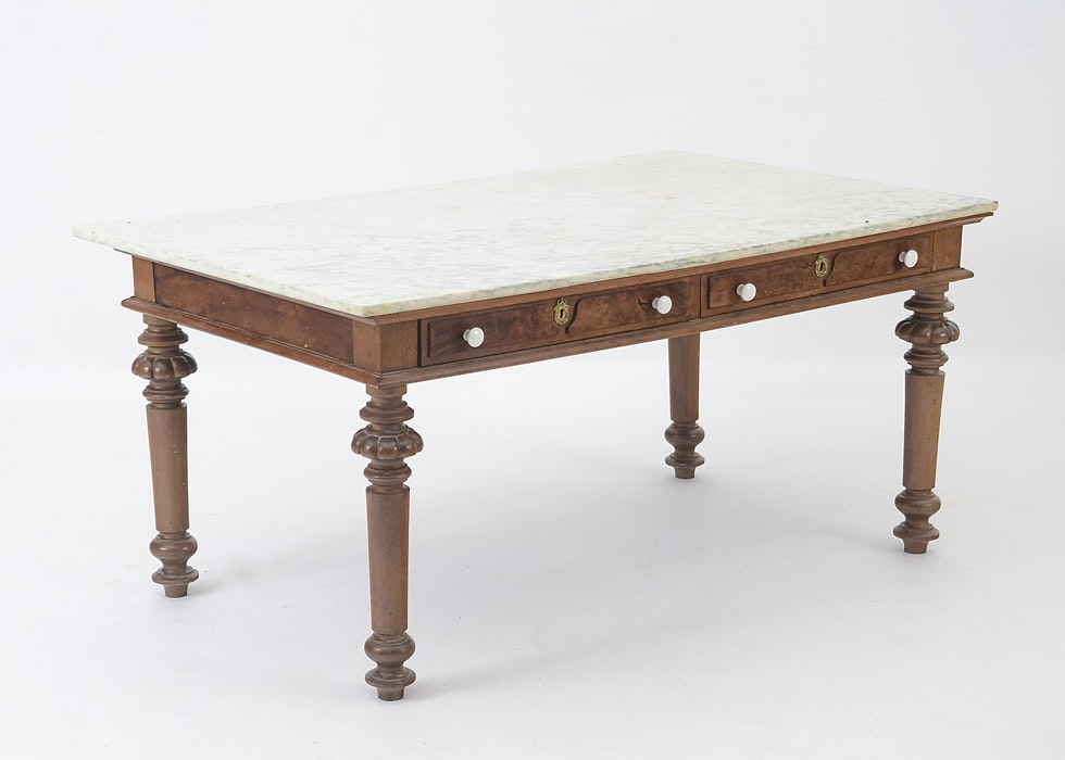 Antique Marble Top Pastry Table ...