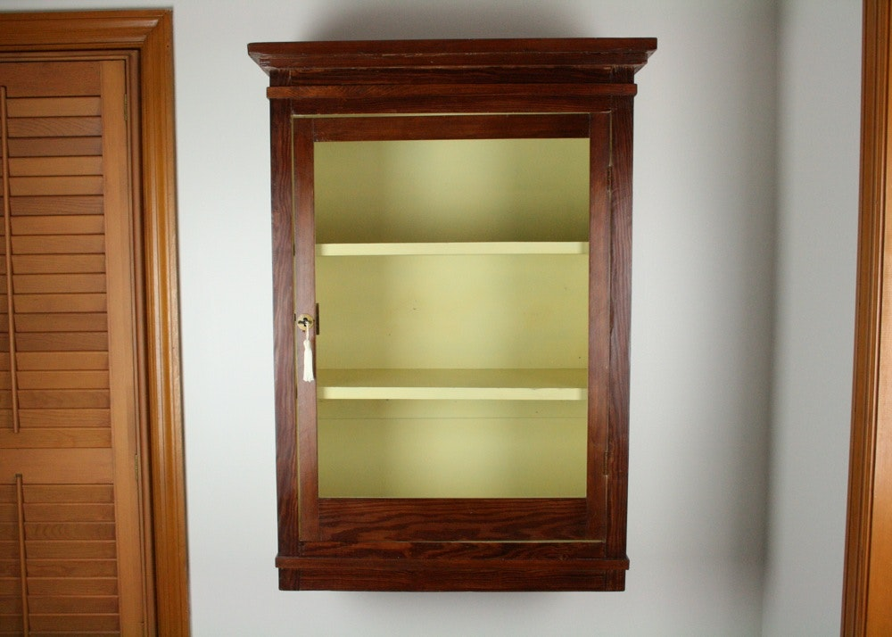 Pine Wall Mount Curio Cabinet ...