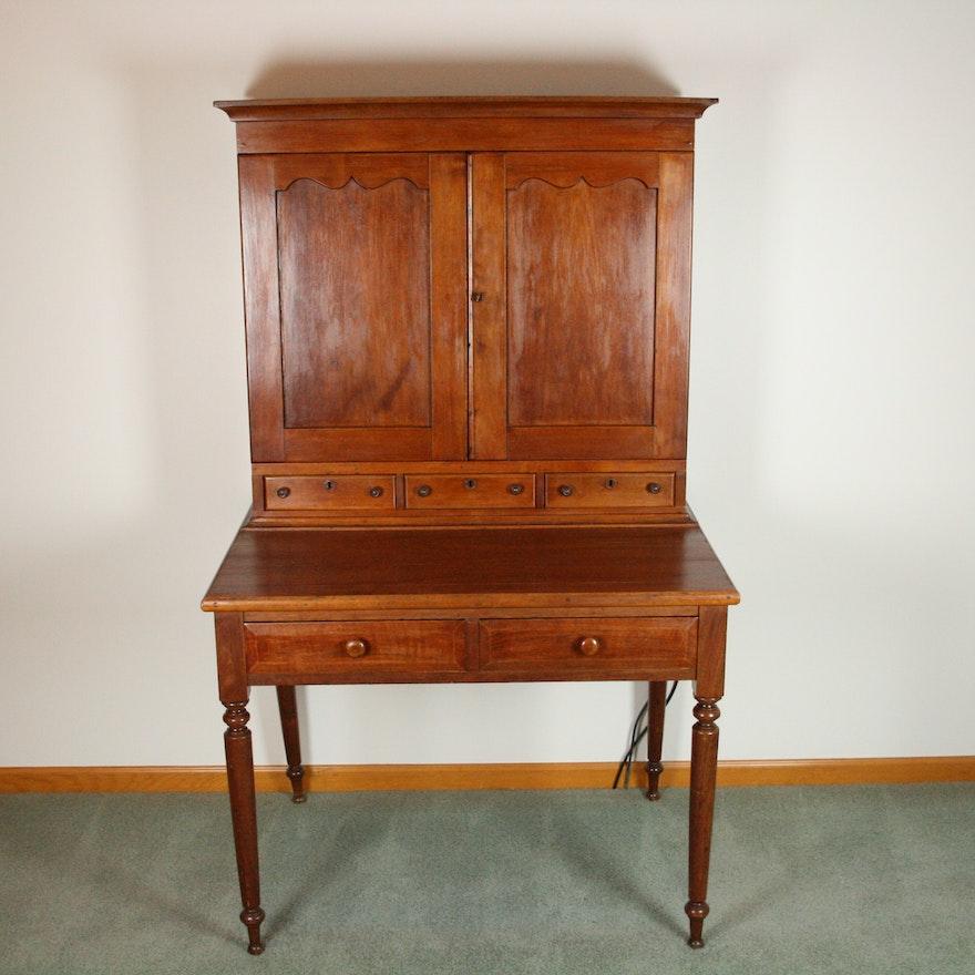 Antique Walnut Plantation Desk ... - Antique Walnut Plantation Desk : EBTH