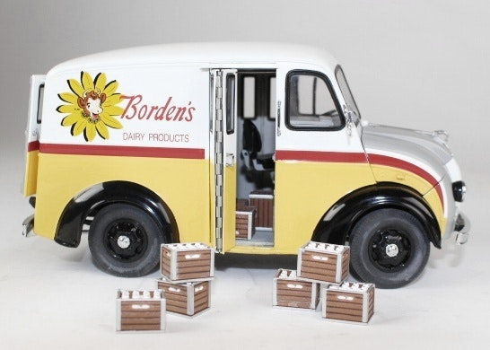 1950 Borden S Divco Milk Truck 1 24 Scale Metal Model Ebth