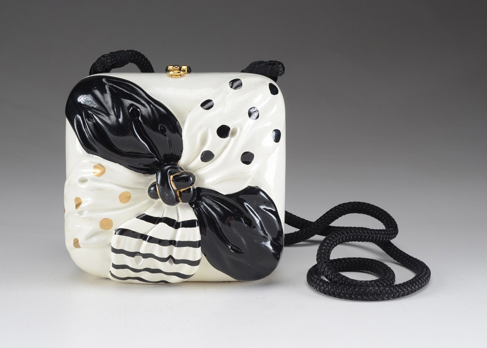 Timmy Woods Black And White Designer Handbag