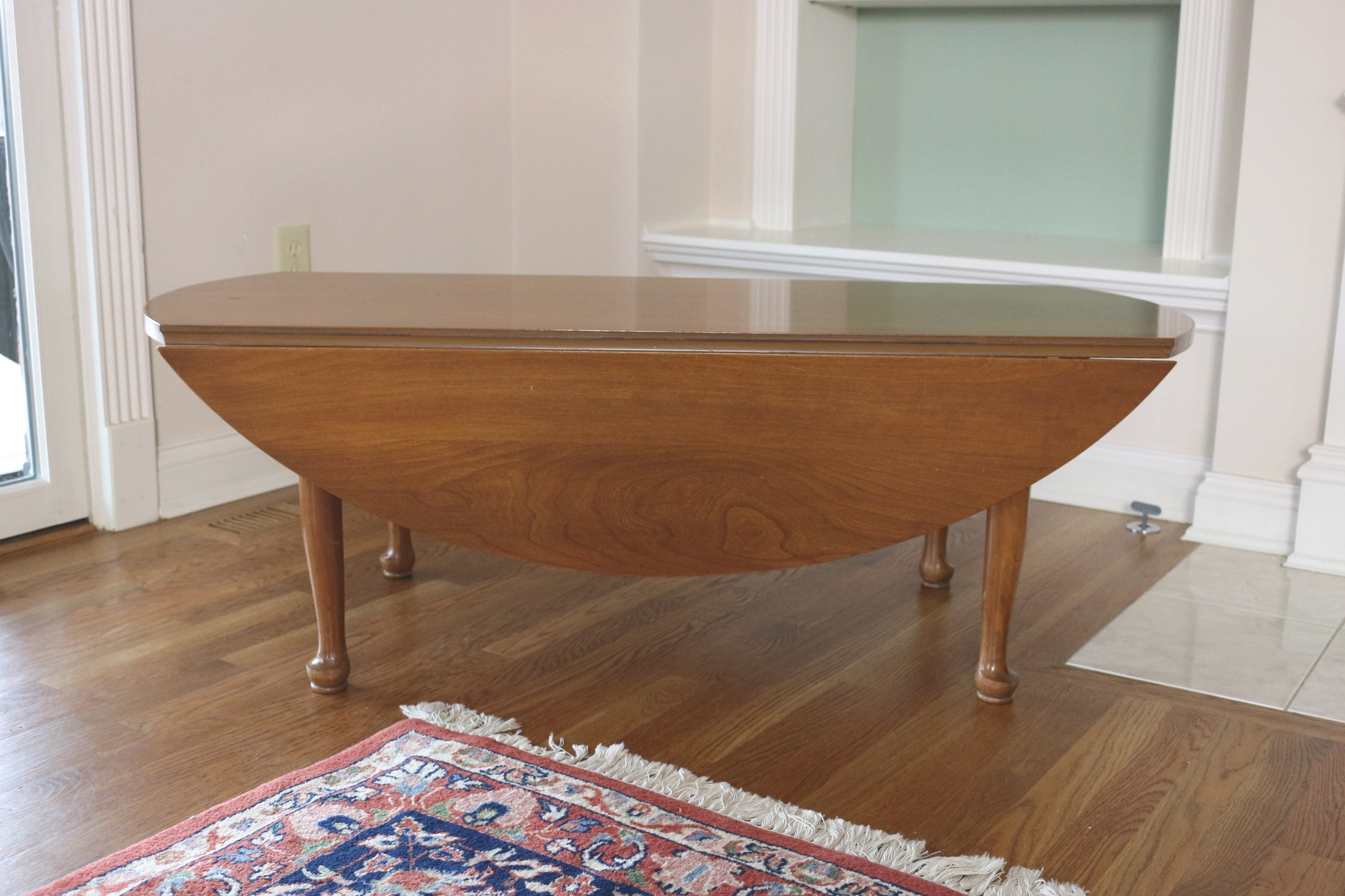 Mid Century Oval Drop Leaf Coffee Table