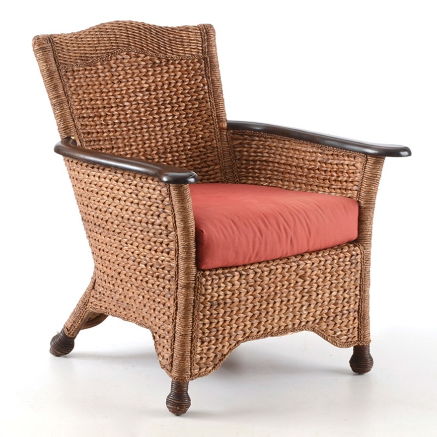 pier 1 wicker chair ebth. Black Bedroom Furniture Sets. Home Design Ideas
