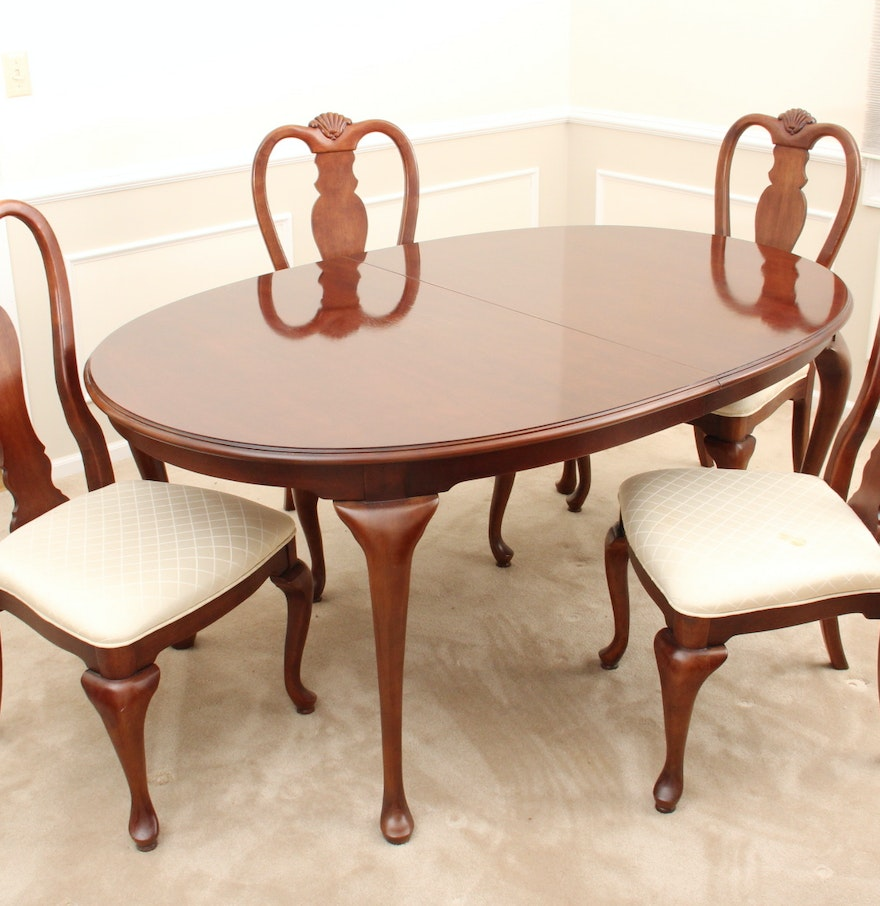 Elegant Bernhardt Dining Room Table and Chairs EBTH – Bernhardt Dining Room Furniture