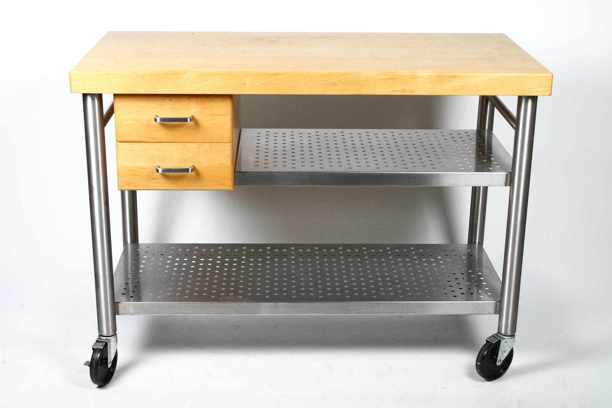boos butcher block table on wheels