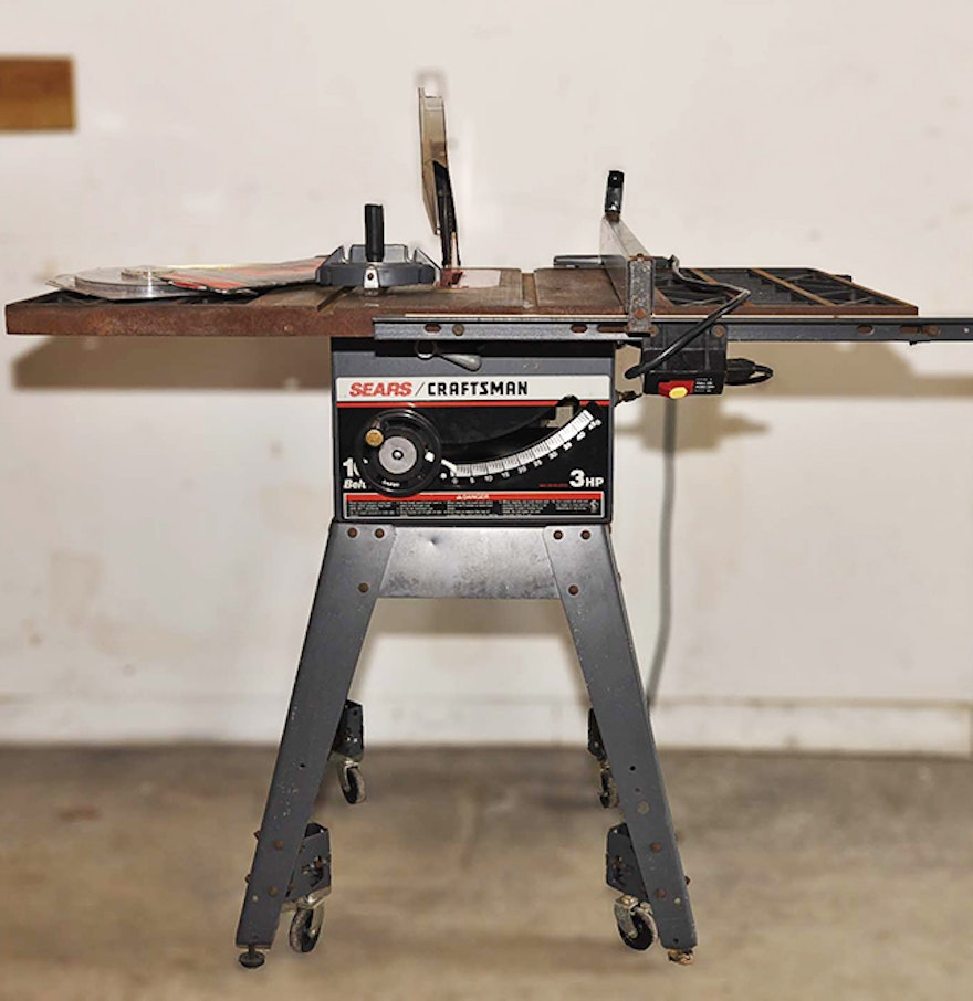 Craftsman 10 Belt Drive Table Saw Ebth