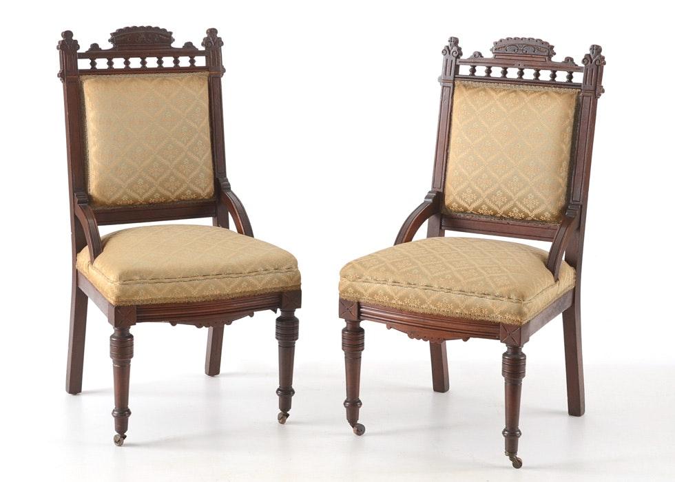 Pair Of Eastlake Chairs ...