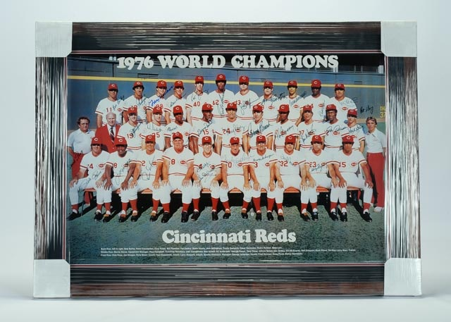 1976 Cincinnati Reds Signed Team Poster