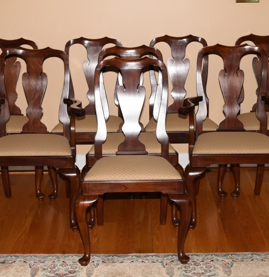 Henkel Harris Dining Table Henkel Harris Mahogany Dining Chairs Ebth