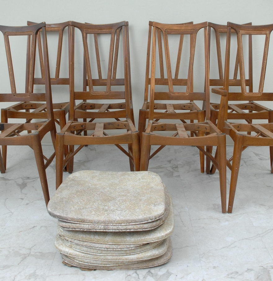 Holman manufacturing company maple dining chairs ebth