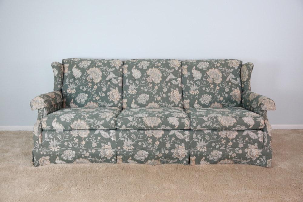 Superbe Ethan Allen Floral Sofa ...