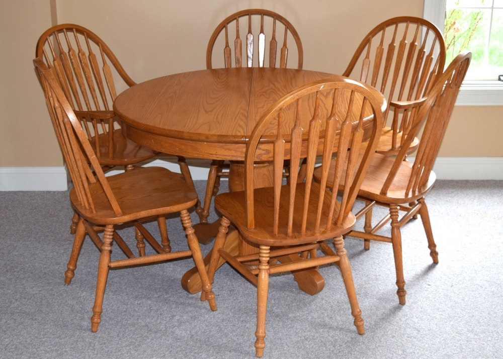 Oak Express Table And Chairs ...