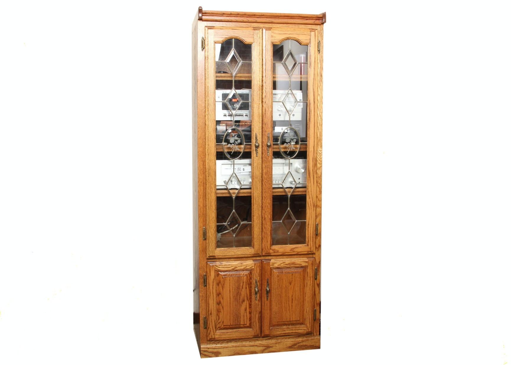 Oak Stereo System Cabinet ...