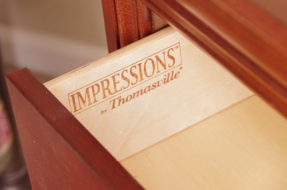 Impressions By Thomasville Cherry Two Drawer Nightstand Ebth