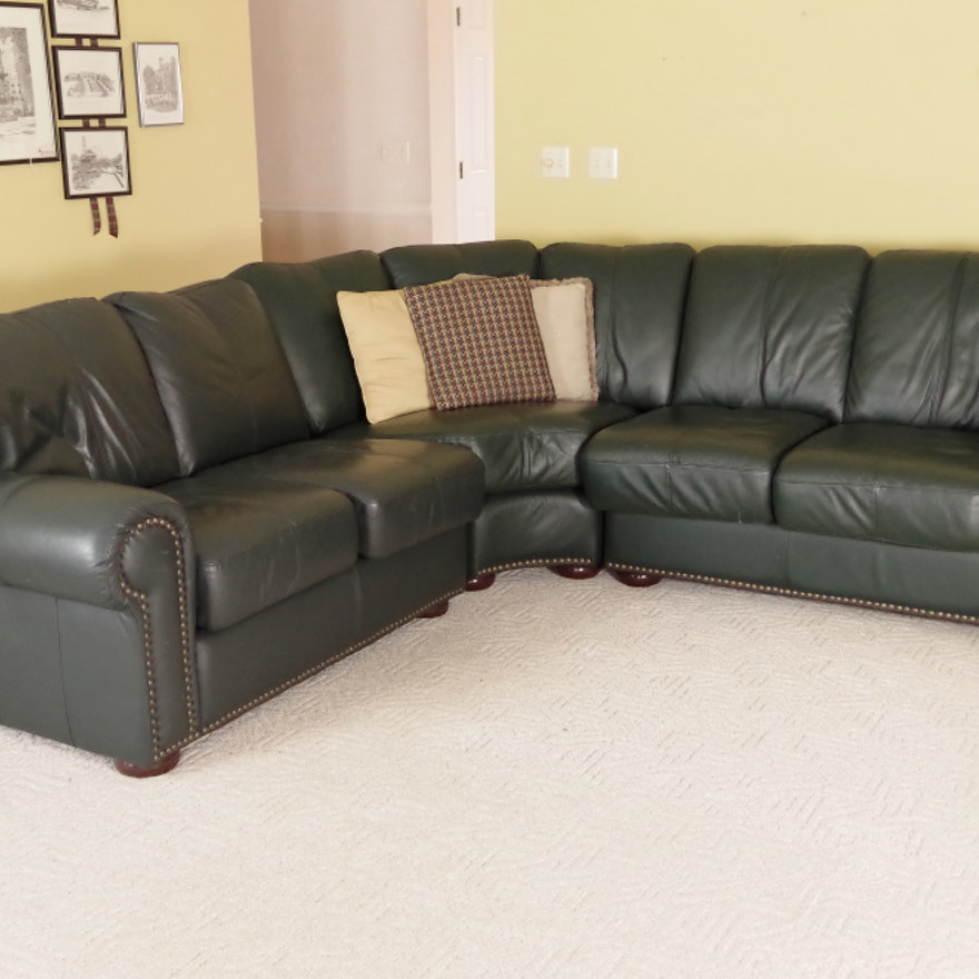 Leather Mart Three Piece Sectional Sofa