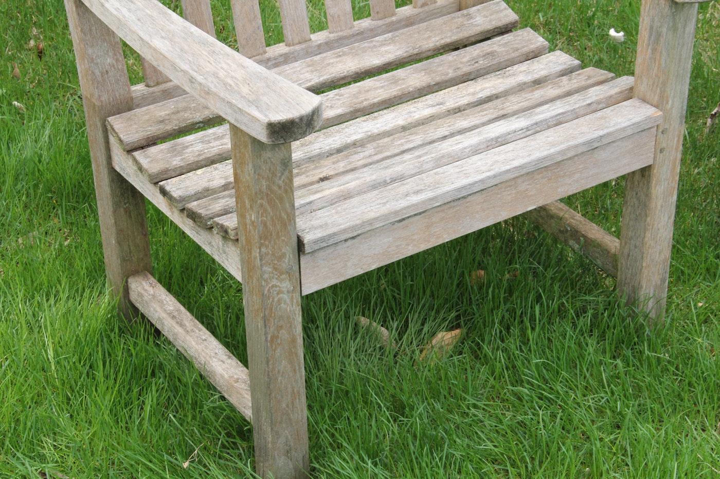 Smith Amp Hawken Teak Bench And Chair Ebth