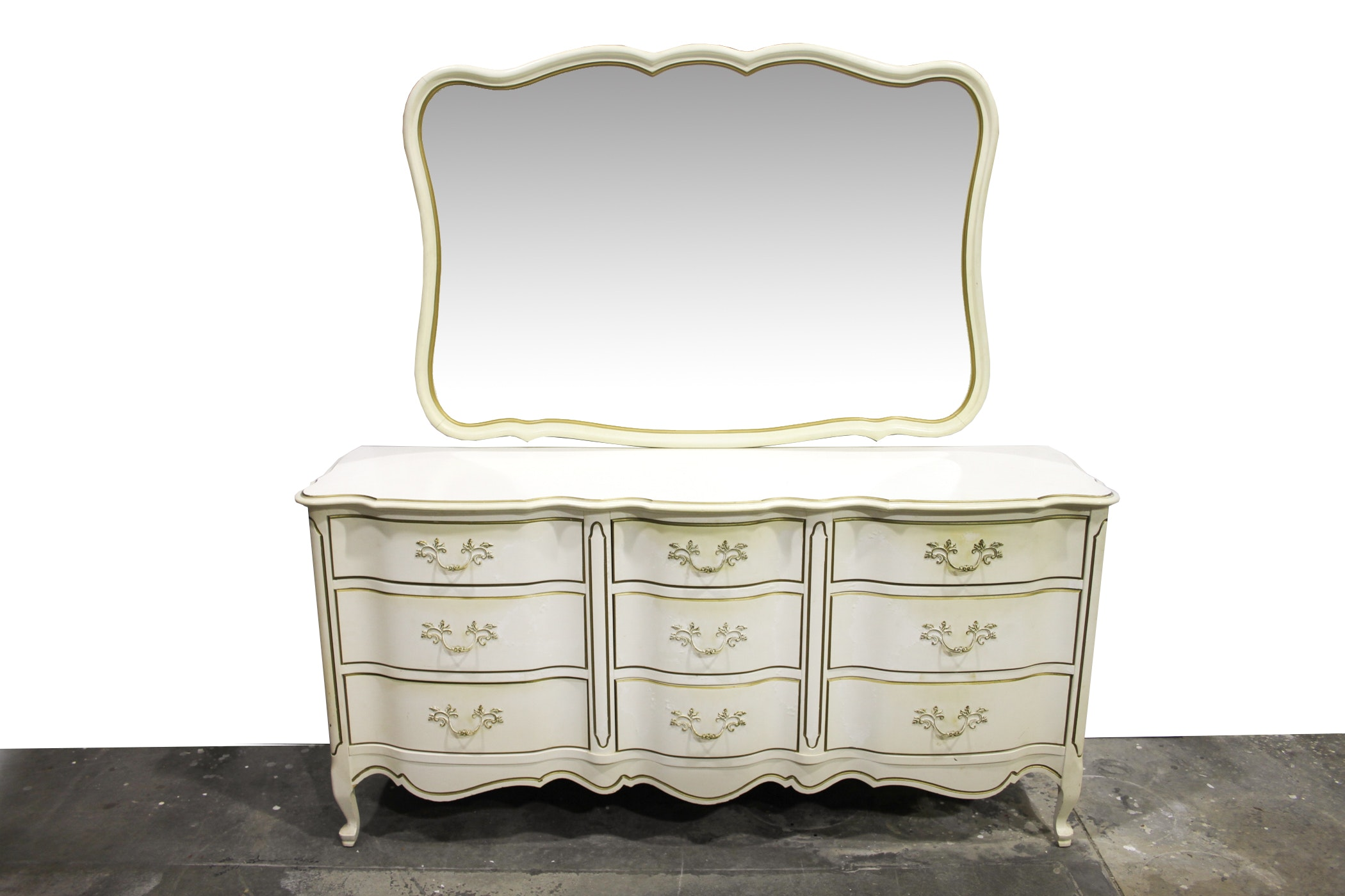 Johnson/Carper French Provincial Style Dresser with Mirror