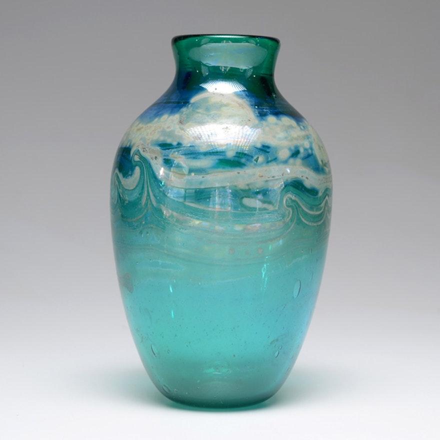 Audrey Handler Hand Blown Vase Ebth
