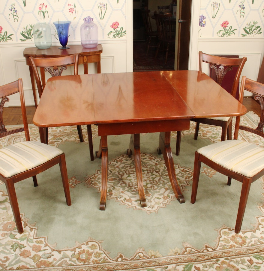 Duncan phyfe style dining room table and chairs ebth for Dining room table styles