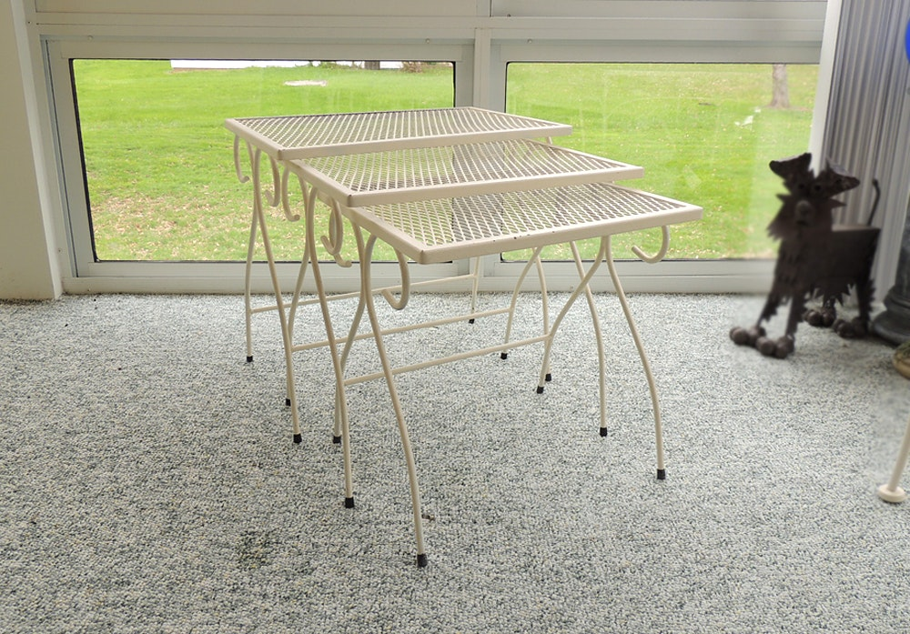 Wrought Iron Patio Nesting Tables ...