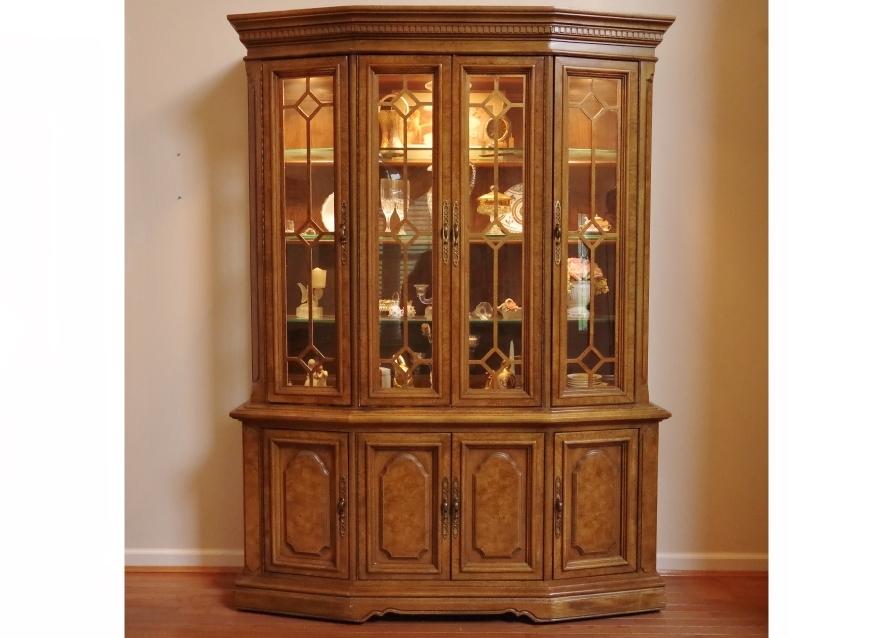 Unique Furniture Makers Pecan China Display Cabinet : EBTH