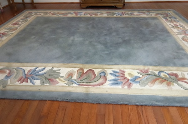 Melody Blue And Ivory Wool And Cotton Sculpted Area Rug Ebth