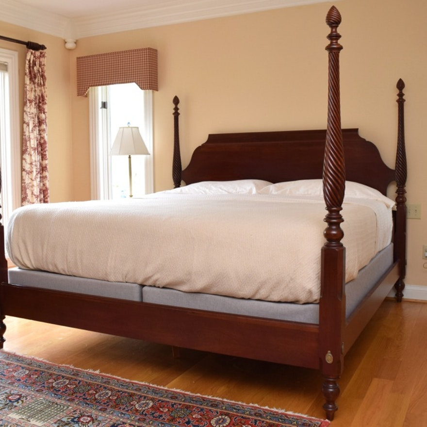 Ethan Allen King Size Bed In Cherry