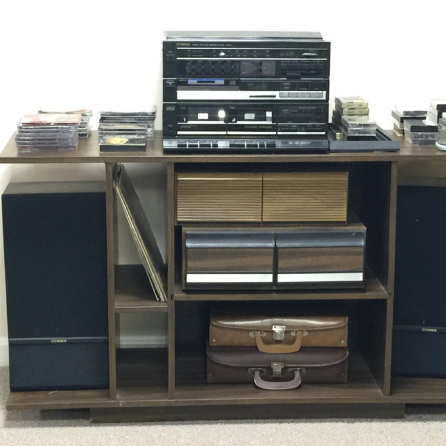 Fisher Stereo System with CDs and Cassette Tapes