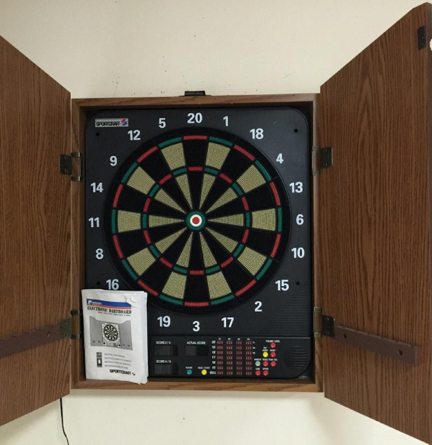 Electronic Sportcraft Unicorn Dartboard And Darts : EBTH