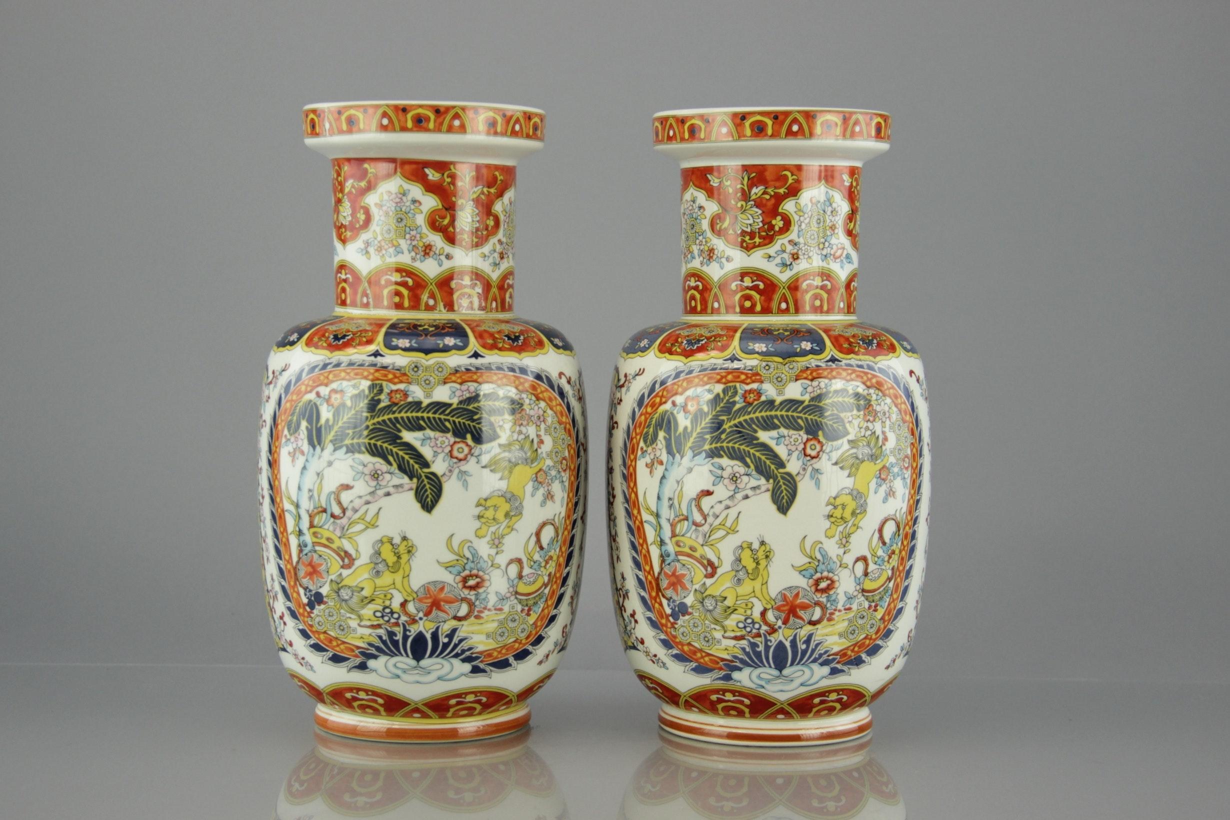 Antique Miyako Nippon Hand Painted Dragonware Vase With
