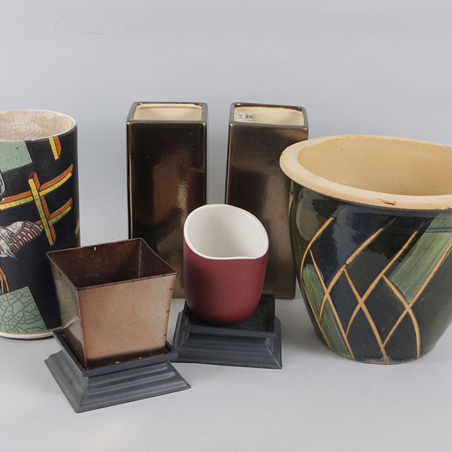 Earthy Pots And Vases Ebth