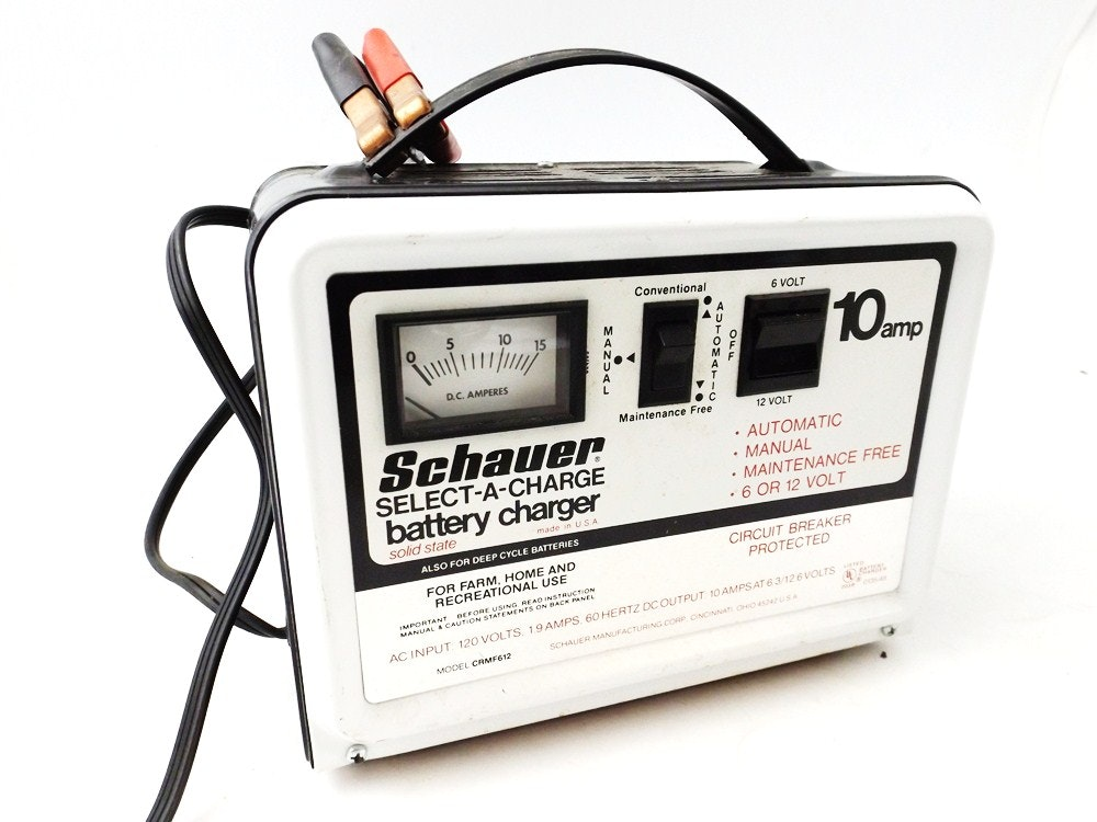 schauer select a charge 10 amp battery charger ebth rh ebth com Schauer Battery Charger 6 Amp Schauer Company
