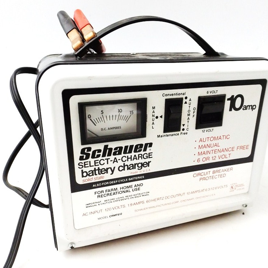 Schauer Select A Charge 10 Amp Battery Charger Ebth