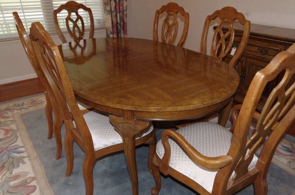 Unique Dining Room Table Sets: Unique Furniture Makers Pecan Dining Room Table And Chairs