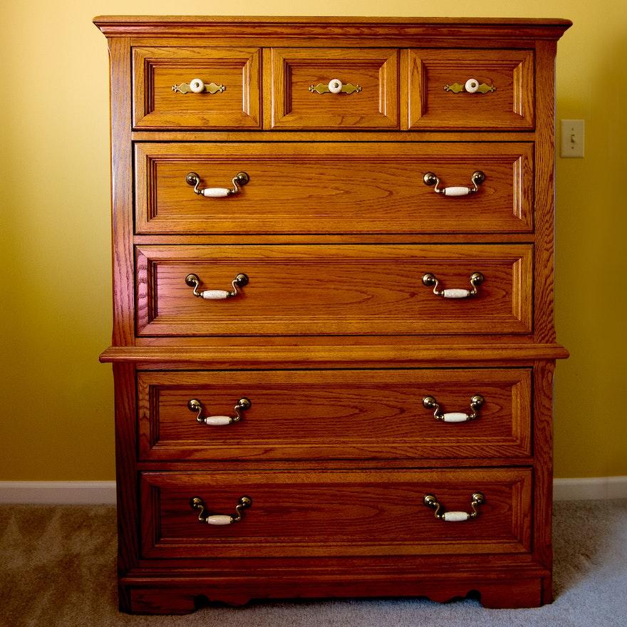 Thomasville Bedroom Furniture: Thomasville Furniture Oak Chest Of Drawers : EBTH
