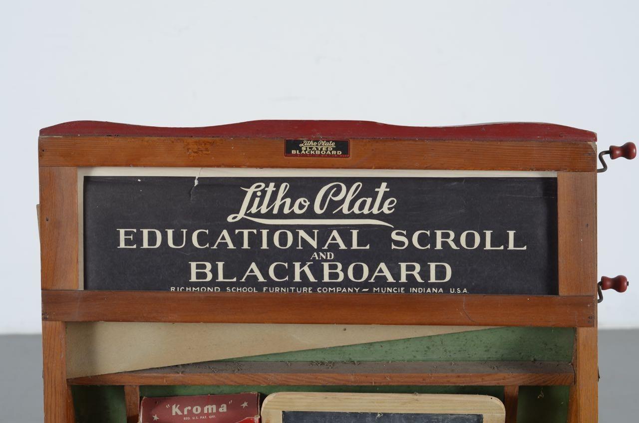 Litho Plate Slated Blackboard By Richmond School Furniture Co Ebth