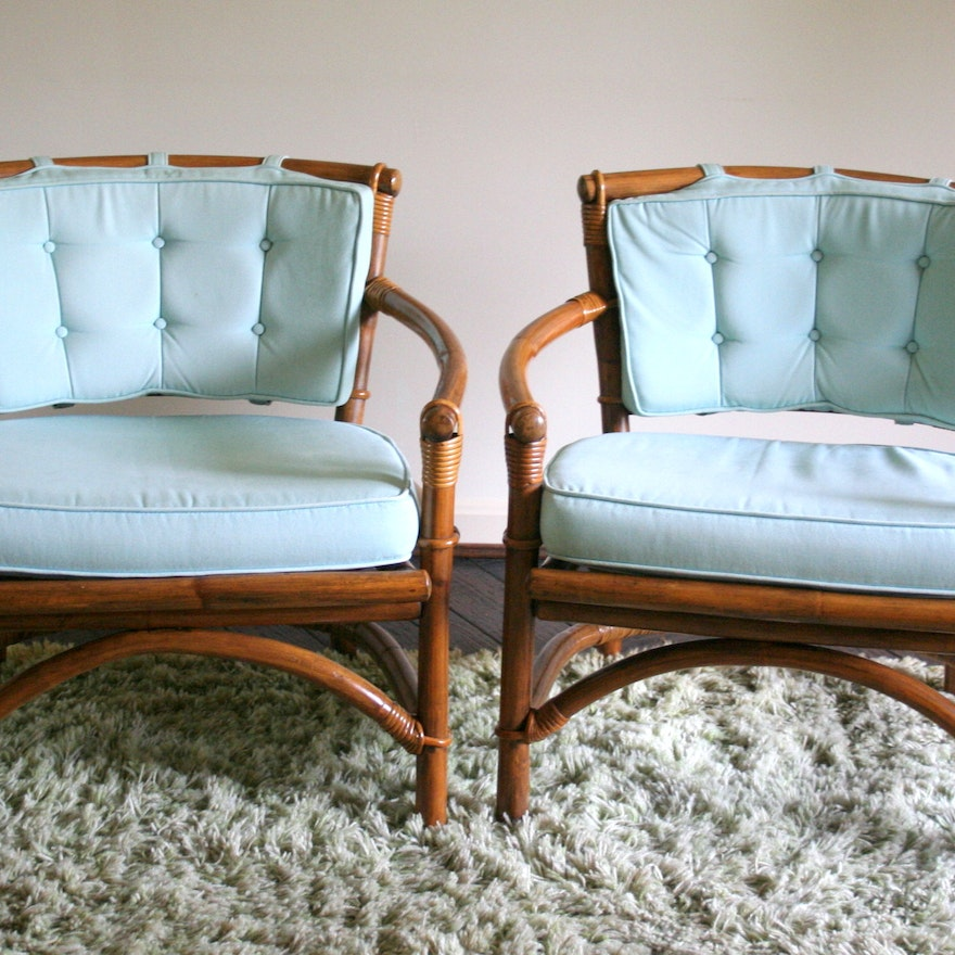 Mid Century Ficks Reed Bamboo And Rattan Chairs Ebth