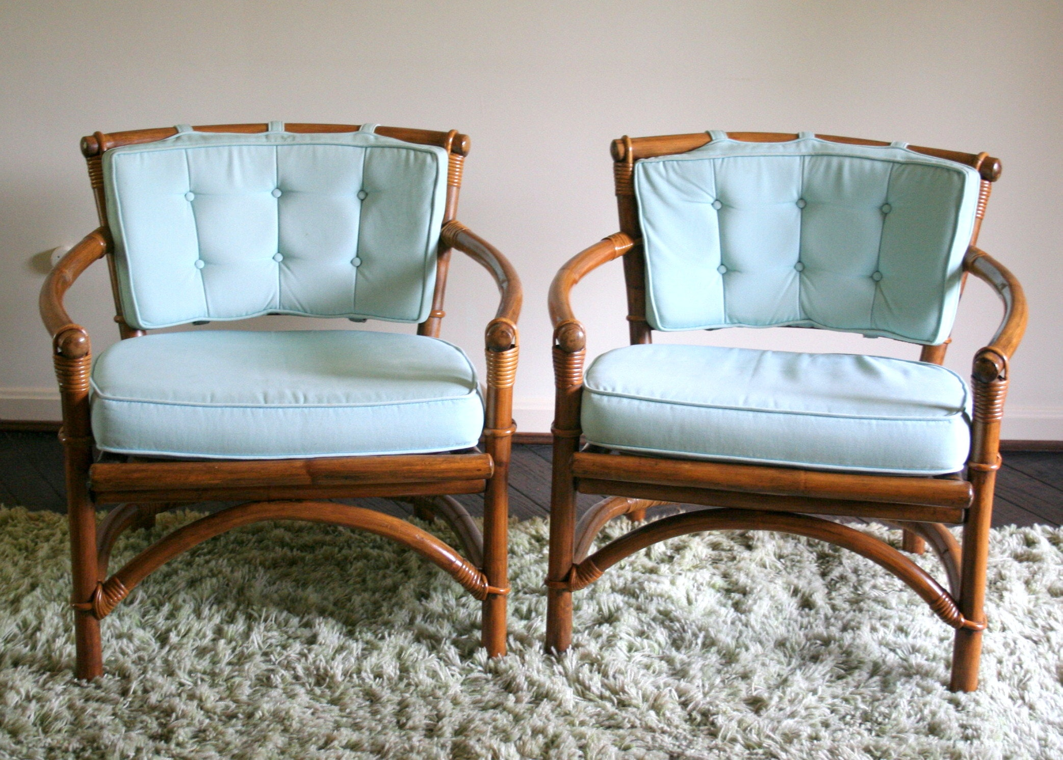 Merveilleux Mid Century Ficks Reed Bamboo And Rattan Chairs ...
