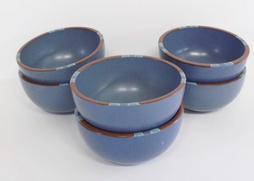 Set of Six Dansk Mesa Sky Blue Bowls ... & Set of Six Dansk Mesa Sky Blue Bowls : EBTH