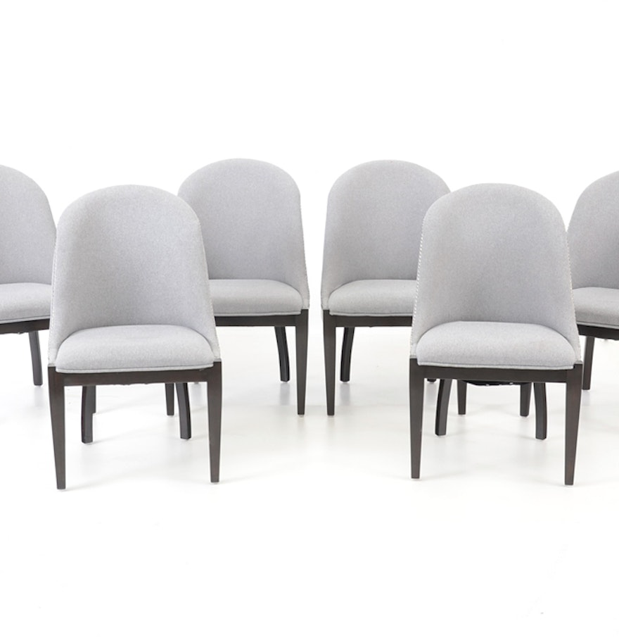 Six Broyhill Grey Upholstered Dining Chairs  Six Broyhill Grey Upholstered Dining Chairs   EBTH. Grey Upholstered Dining Chairs. Home Design Ideas