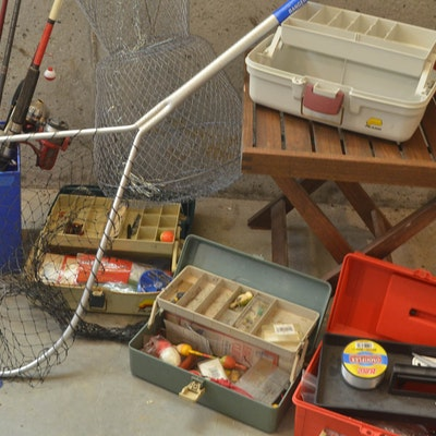Vintage fishing gear auction used fishing equipment in for Tennessee fishing license prices
