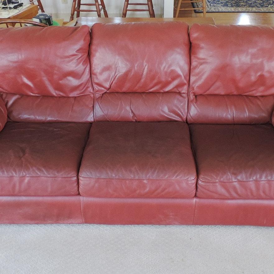 Natuzzi Italian Leather Sofa