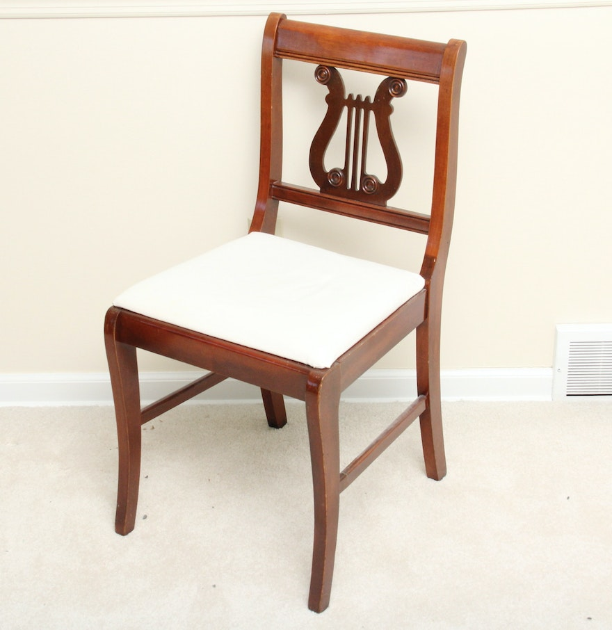 Duncan phyfe rose back chairs - Vintage Duncan Phyfe Style Lyre Back Chair