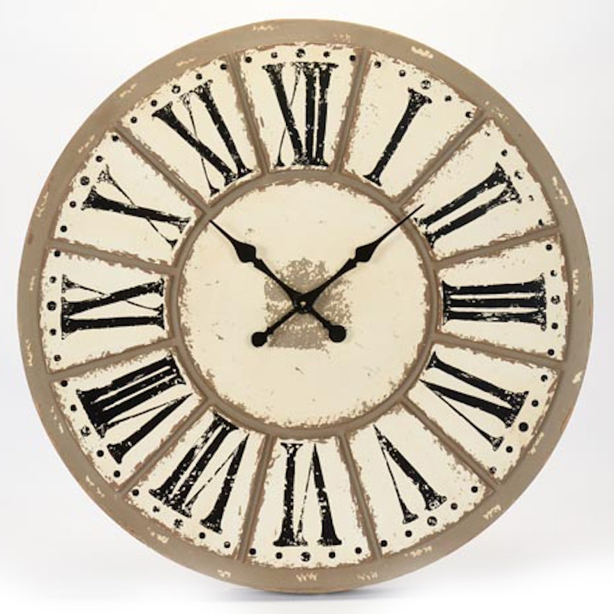 Large Clock Face With Roman Numerals Ebth