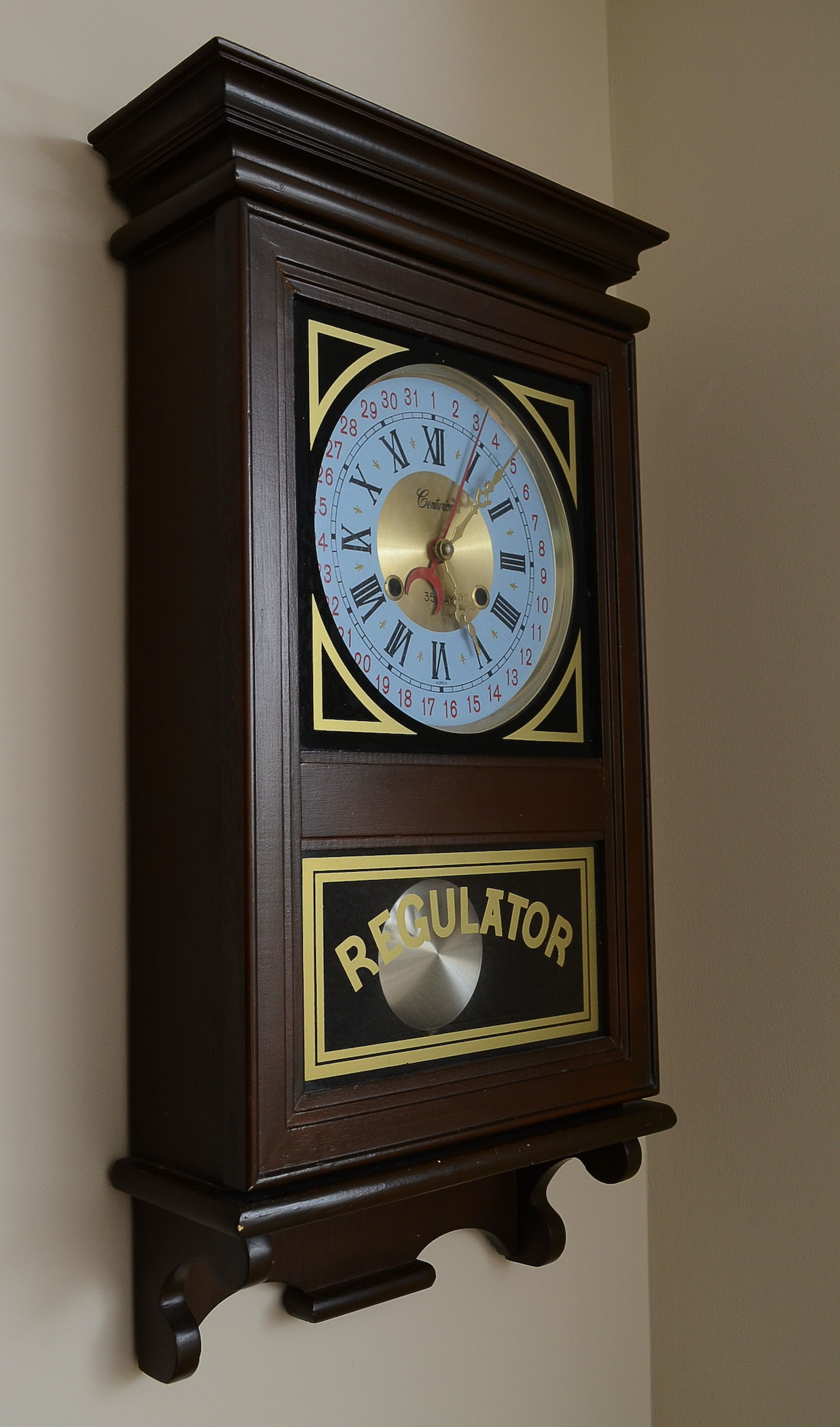 Centurion 35 Day Quot Regulator Quot Wall Clock Ebth