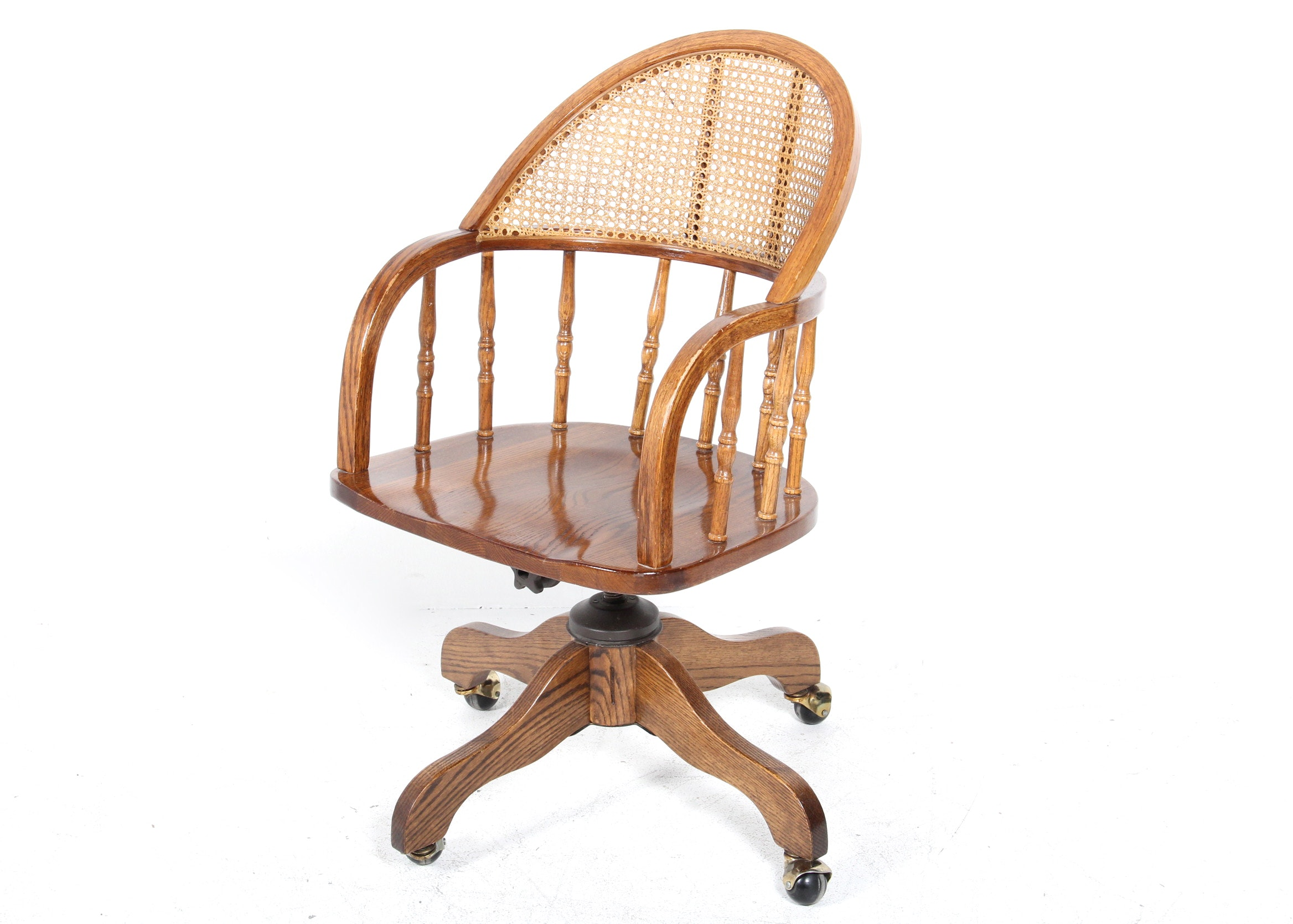 cane back office chair : ebth