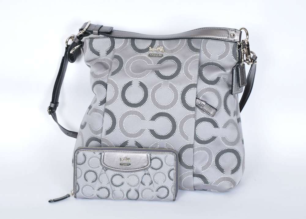 fadf9c361a67 new zealand coach madison small phoebe shoulder bag in op art needlepoint  fabric lyst a4b76 8f688  cheap op art signature c coach bag and wallet ebth  52277 ...