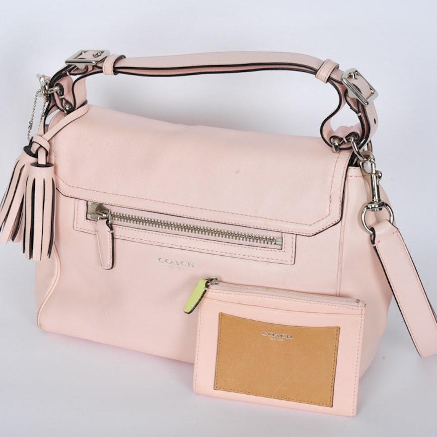 Blush Pink Coach Legacy Romy Leather Bag   EBTH dfd9ada392980