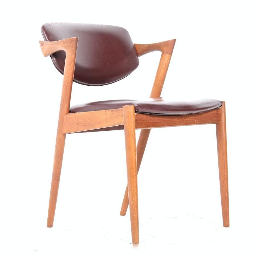 mid century modern kai kristiansen style swivel back chair ebth. Black Bedroom Furniture Sets. Home Design Ideas